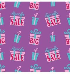 Big sale pattern vector image
