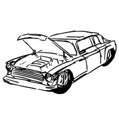 Car hood vector