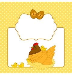 Chicken Card vector image
