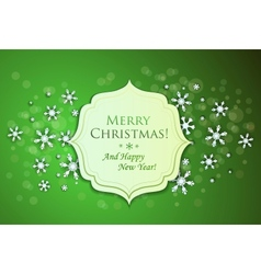Christmas background and snowflakes vector image