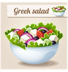 Detailed icon greek salad vector