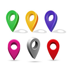 directory 3d pointer icons mapping pin vector image vector image