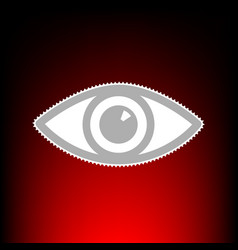 eye sign postage stamp or old photo vector image vector image