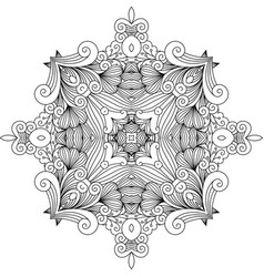 floral zentangle decorative element vector image vector image