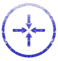 Impact arrows grunge textured icon vector