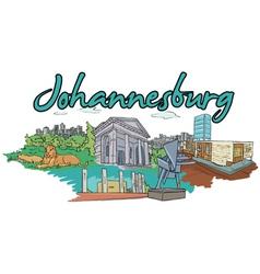 Johannesburg doodles vector