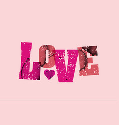 love concept stamped word art vector image vector image