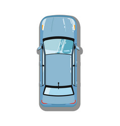 Modern sedan top view icon vector