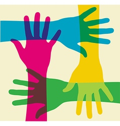 multicolored teamwork vector image