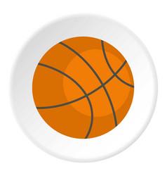 Orange basketball ball icon circle vector