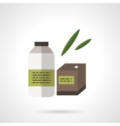 Organic products flat flat color icon vector image