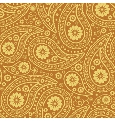 Seamless Paisley background Elegant Hand Drawn vector image
