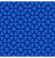 Seamless Pattern over blue vector image
