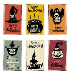set of halloween banner templates monster vector image