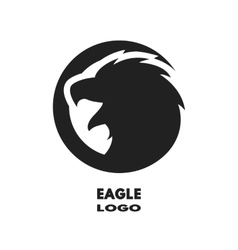 Silhouette of the eagle monochrome logo vector