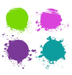 Splash designs set vector image