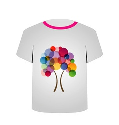 T Shirt Template-Abstract tree vector image vector image