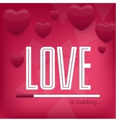 Valentine day or wedding posterTypography Love vector image