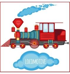 vintage locomotiv vector image