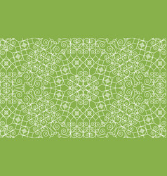 Vintage swirl greenery seamless pattern background vector
