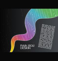 wavy rainy rainbow background vector image