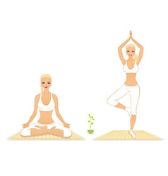 yoga woman vector image vector image