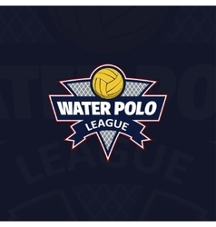 Water polo logo for the team and the cup vector