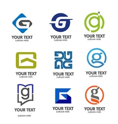 Letter g logo set vector