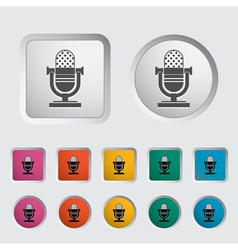 Icon vintage microphone vector