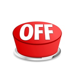 Turn off button sign template red vector