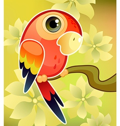Red parrot vector