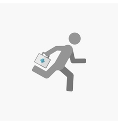 Emergency flat icon vector