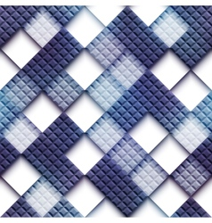 Mosaic pattern with blank rhombus vector