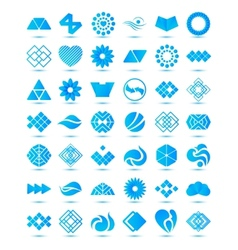 Set of various geometrical abstract icons signs vector