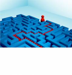 Solved maze vector