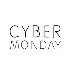 A white background with text for cyber monday vector
