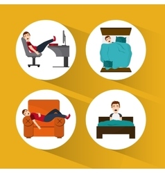 Resting icon design vector