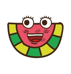 Watermelon character isolated icon design vector