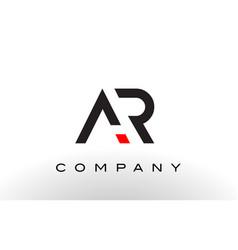 Ar logo letter design vector