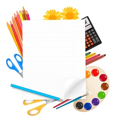 back to school big set vector image