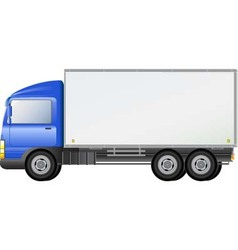 blue isolated shipping truck vector image vector image