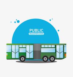 Bus city vehicle public transport vector