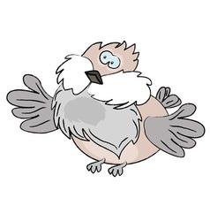 cartoon sparrow vector image vector image