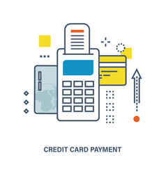 Concept of credit card payment vector