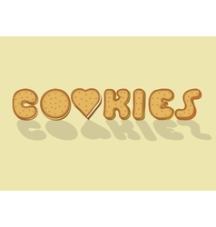 Cookies Sweet artistic font vector image