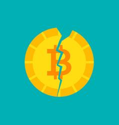crash bitcoin concept vector image