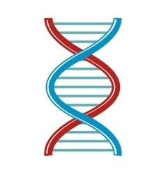 Dna cartoon icon isolated on white background vector