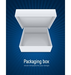 empty open packaging box vector image vector image