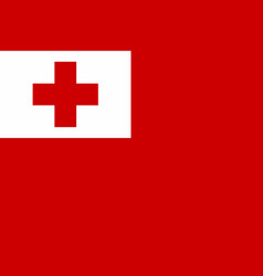 flag of tonga vector image vector image