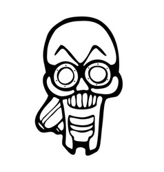 Gas mask skull vector